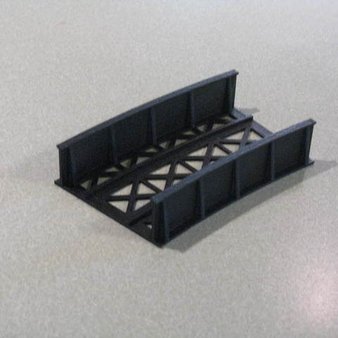 "5956e82ed80f1b4e4fe132bbc1e2815e_display_large.JPG Download free STL file HO Scale 18"" Radius Curved Bridge • 3D print model, kabrumble"