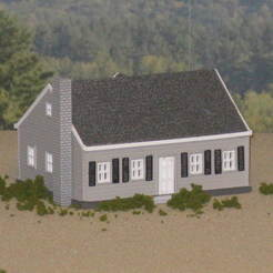 Descargar diseños 3D gratis HO Scale The Cape Cod, kabrumble