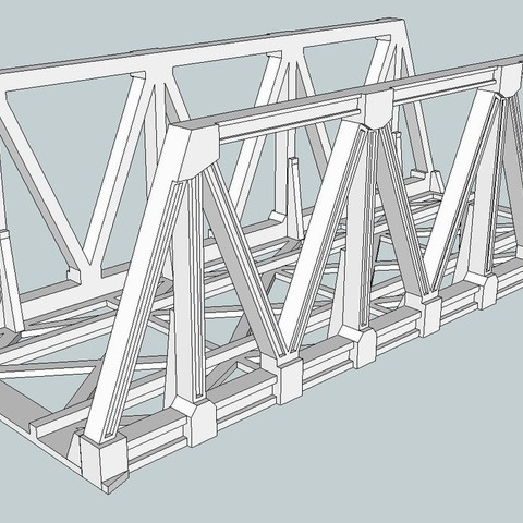 d6a0cb9f7dcacb128e3e1671878d76a1_display_large.jpg Download free STL file HO Scale Warren Truss Bridge 7.5 Inches • Model to 3D print, kabrumble