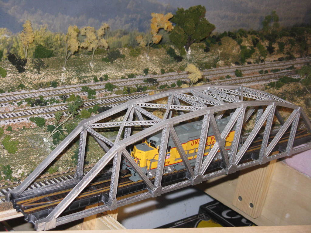 cccd9183f172871f5f1bf8ff9cea26e7_display_large.JPG Download free STL file HO Scale 145 ft Steel Arched Truss Bridge • 3D printer model, kabrumble