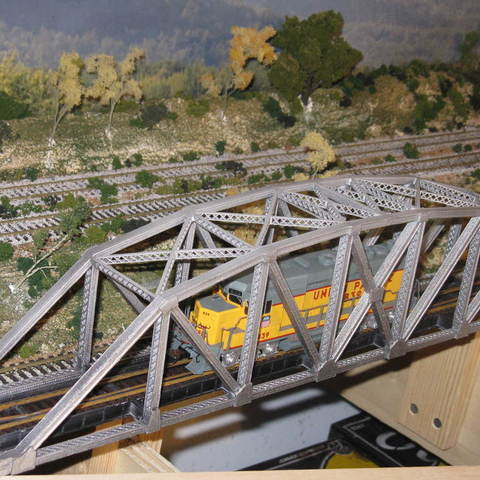 Download free STL files HO Scale 145 ft Steel Arched Truss Bridge, kabrumble