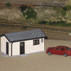 Download free 3D printer model HO Scale Guard Shack, kabrumble