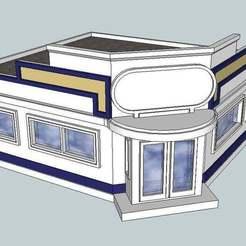 The_Diner.jpg Download free STL file HO Scale Diner • 3D printer model, kabrumble