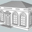 Download free 3D printing designs HO Scale  Post Office, kabrumble