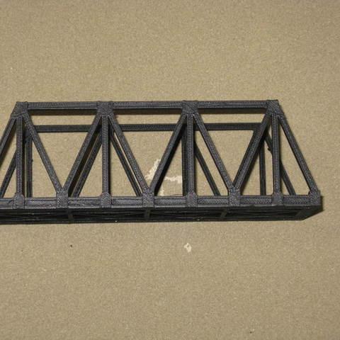 d882d6eada4984f185a56a4c5909c77f_display_large.JPG Download free STL file HO Scale Warren Truss Bridge 7.5 Inches • Model to 3D print, kabrumble