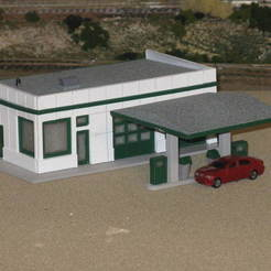 Download free 3D printing templates HO Scale Service Station, kabrumble