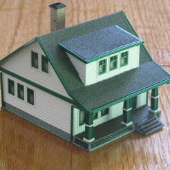 Download free 3D printer designs HO Scale Lasalle House, kabrumble