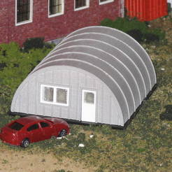 Free 3D printer designs HO Scale Quonset Hut, kabrumble