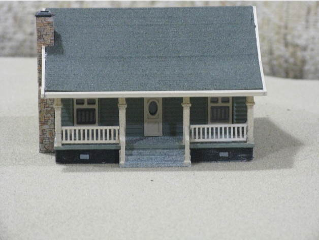 9e2023ffdacc2dd69d64a4440891759d_preview_featured.jpg Download free STL file HO Scale Cottage • Template to 3D print, kabrumble