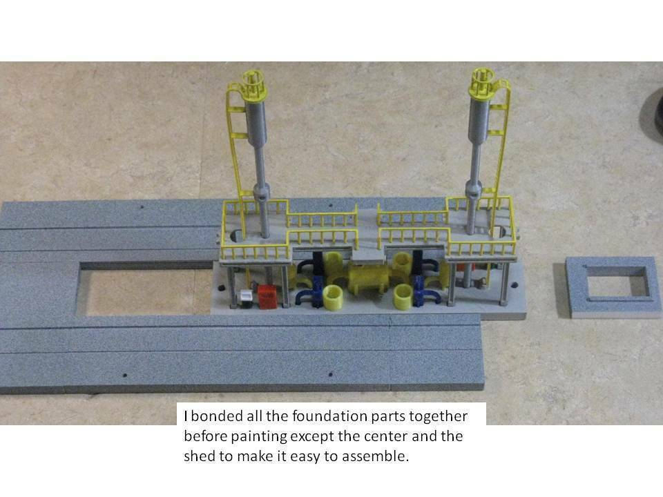 Foundation_Assembly.jpg Download free STL file HO Scale Diesel Refueling Station • 3D printing template, kabrumble