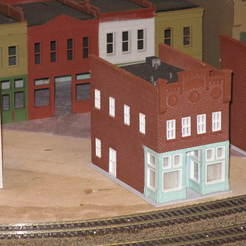 Download free STL file HO Scale Main Street One, kabrumble