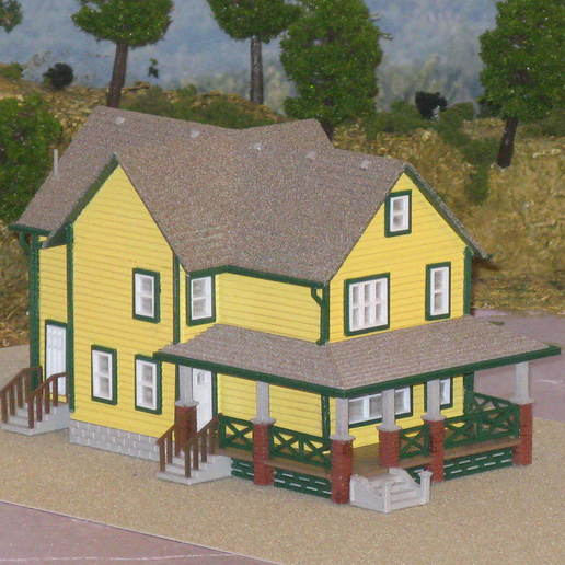 Download free 3D printer templates HO Scale A Christmas Story House, kabrumble