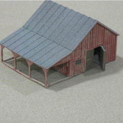 Free 3D printer model HO Scale Small Barn and Accessories, kabrumble