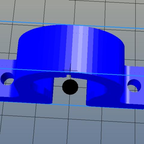 Captura2.PNG Download STL file Bearing bracket 609 • 3D printer template, salti_ca