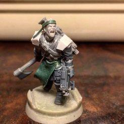 Télécharger STL gratuit GRATUIT - Soldat du culte de la nuit avec pose de lance 1 figurine - fichier STL, juanjotorrico