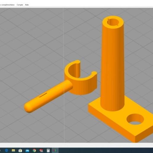 Télécharger plan imprimante 3D gatuit Support tube néon , alex20117