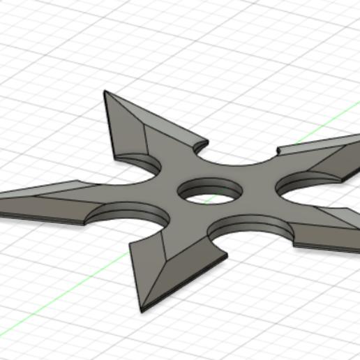 shuriken v2.PNG Download free STL file shuriken 5 branches v2 • 3D printable design, lopezclement43