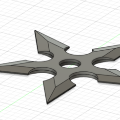 Download free STL file shuriken 5 branches v2 • 3D printable design, lopezclement43