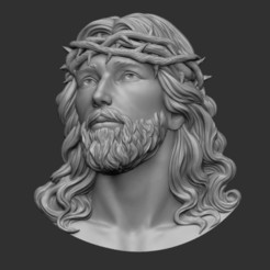3D print model Jesus Head pendant 2 3D print model, DamNgocHiep