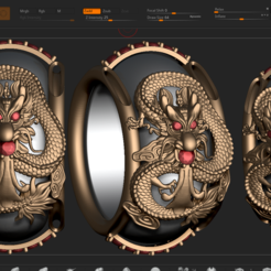 Download 3D printer designs dragon ring, DamNgocHiep