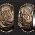 Free STL files dragon ring, DamNgocHiep