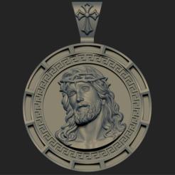 3D print files JESUS HEAD PENDANT 3 3D PRINT MODEL, DamNgocHiep