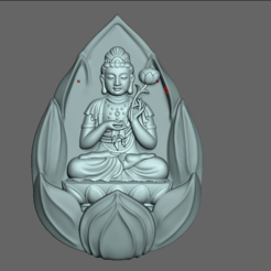 Download 3D printing templates Buddha,  the Bodhisattv, quan âm, DamNgocHiep