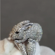 Download STL files Bunny Ring . Size 17 and size 19, DamNgocHiep