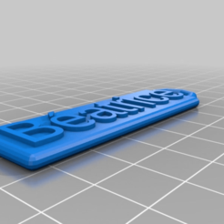 Download free 3D printer templates My Customized Customized Rounded Simple Name Fob, ericperrier