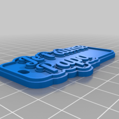 Download free 3D printer designs My Customized Multiline Tag or Keychain, ericperrier