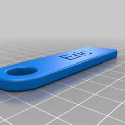 Download free 3D printer designs Eric Personalized Key Chain, ericperrier