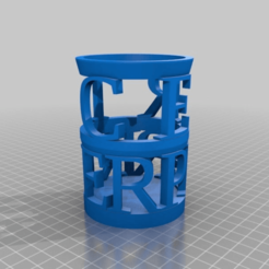 c66de45e6f64415c257a35438d480027.png Download free STL file My Customized Penholder  with your name • 3D printer design, ericperrier