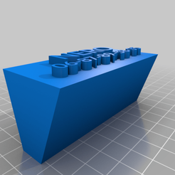 Download free 3D printer files My Customized Nameplate, ericperrier