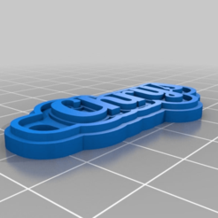 Download free 3D printing templates nouveau Chrys Multiline Tag or Keychain, ericperrier