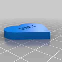 Download free 3D printer files My Customized Message Heart, ericperrier