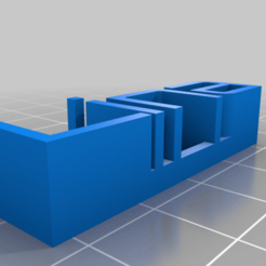 Download free 3D printer designs My Customized 3D name plate, ericperrier