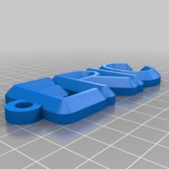 Télécharger fichier imprimante 3D gratuit Mon porte-clés personnalisé, ericperrier