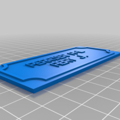 Download free 3D printer designs My Customized Simple Name Sign, ericperrier