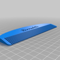 Download free 3D printer model My Customized Comb, ericperrier