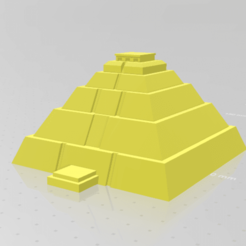 Download free 3D printing designs Sun Pyramid Teotihuacan Mexico (piramide del sol) mini model, minimeka