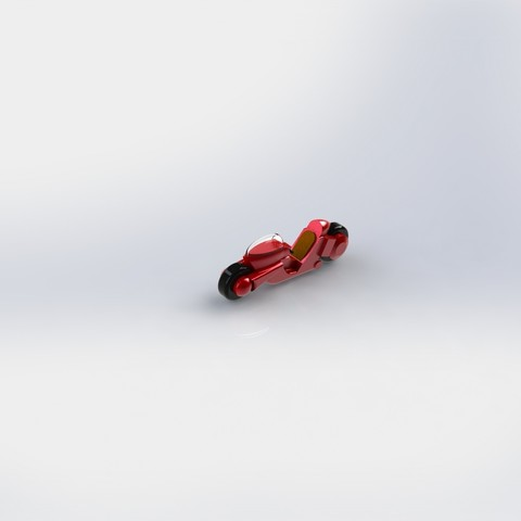 Free 3d printer model mini akira motorbike ( kaneda´s bike), minimeka