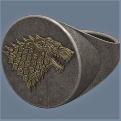 Download 3D model Wolf Ring, omni-moulage