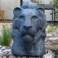 EXT3.JPG Download 3MF file Large size lion's head • 3D print model, omni-moulage