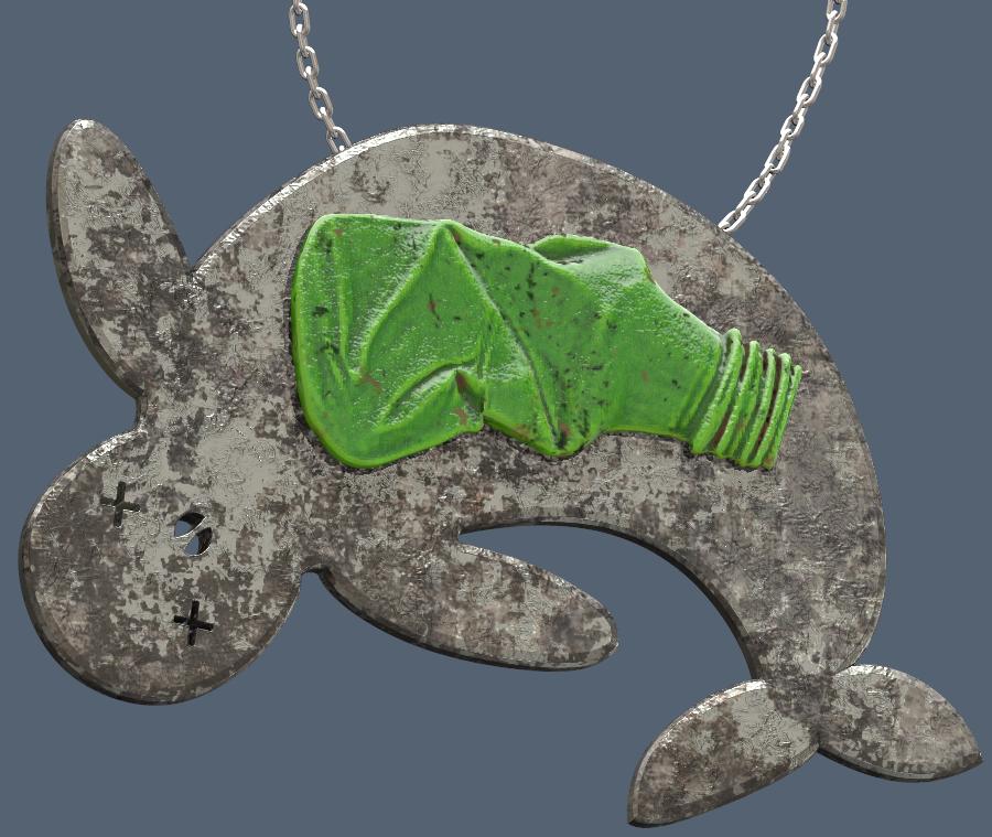 Recto.PNG Télécharger fichier OBJ gratuit plastic pollution impact on animals #XYZCHALLENGE • Design à imprimer en 3D, omni-moulage