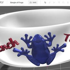 Free 3D printer designs Bangle of frogs, omni-moulage