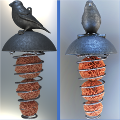 3D printer files Bird feeder, omni-moulage