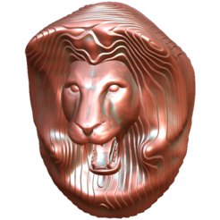 Download free 3MF file Lion's head • 3D print template, omni-moulage