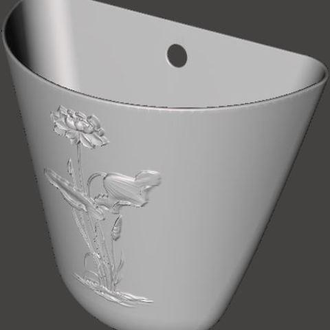 Free 3D model Decorative flower pot, omni-moulage
