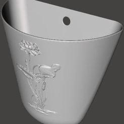 Free 3D model Decorative flower pot, omni-moulage