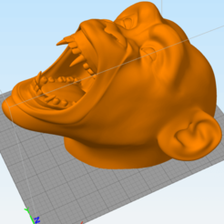 Version Lisse.png Download 3MF file Monkey head (smooth texture) • 3D printing object, omni-moulage